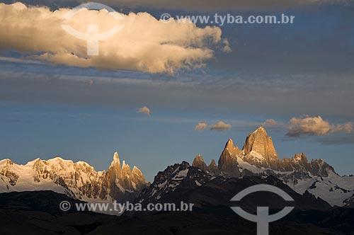 Assunto: Vista do Monte Fitz Roy e do Cerro Torre da estrada ruta 23  / Local:  Place: El Chalten - Patagônia - Argentina  / Data: 02/2010
