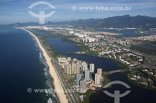 Assunto: Vista aérea da praia da Barra da Tijuca com Recreio ao fundo / Local: Rio de Janeiro - RJ - Brasil / Data: 11/2009