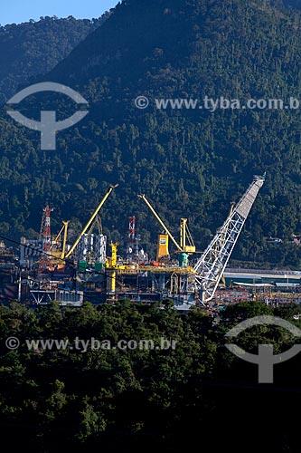 Assunto: Construção das plataformas de petróleo P-57 e P-56 da Petrobras no estaleiro Brasfels  / Local:  Angra dos Reis - RJ - Brasil  / Data: 06/2010