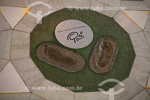 Assunto: Homenagem ao jogador Pelé na calçada da fama do Estádio Jornalista Mário Filho - Maracanã  / Local:  Rio de Janeiro - RJ - Brazil  / Data: 06/2010