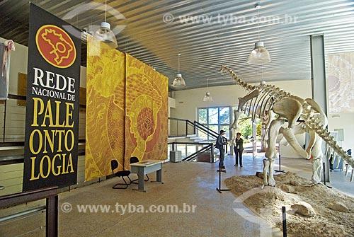 Esqueleto parcialmente reconstituido do Titanossauro (Uberabatitan robeiroi), encontrado nas cercanias de Uberaba. Este dinossauro é o maior encontrado no Brasil   - Uberaba - Minas Gerais - Brasil