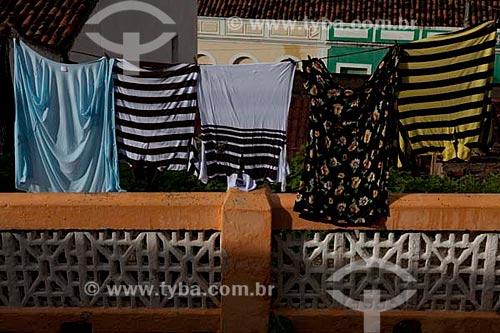 Assunto: Varal de roupas  / Local:  Piranhas - Alto Sertão de Sergipe (SE) - Brasil  / Data: 07/2010