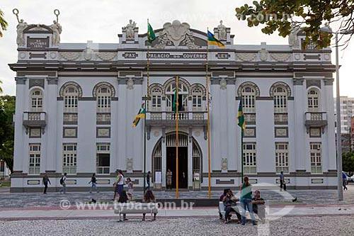 Assunto: Palácio do Governo em Aracaju na Praça Fausto Cardoso.  / Local:  Aracaju - Sergipe (SE) - Brasil  / Data: 07/2010