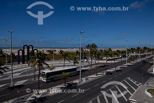 Assunto: Vista da Praça dos Arcos, na Avenida Santos Dumont - Orla da Praia de Atalaia  / Local: Aracaju - Sergipe (SE) - Brasil / Data: 07/2010