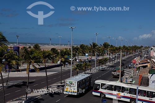 Assunto: Vista da Avenida Santos Dumont na orla da Praia de Atalaia  / Local:  Aracaju - Sergipe (SE) - Brasil  / Data: 07/2010