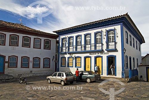 Assunto: Agência do Banco do Brasil (escrito com Z) no centro comercial histórico da cidade  / Local:  Diamantina - Minas Gerais - MG  / Data: 12/2009