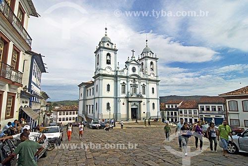 Assunto: Catedral Metropolitana construida no início do século XX, dedicada a Santo Antonio no centro histórico  / Local:  Diamantina - Minas Gerais (MG) - Brasil  / Data: 12/2009