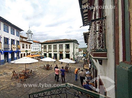Assunto: Vista da Rua da Quitanda, bem próximo da Catedral  / Local:  Diamantina - Minas Gerais - MG  / Data: 12/2009