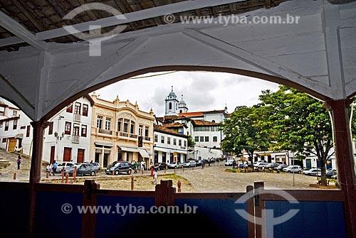 Assunto: Vista do Centro histórico, o antigo Mercado Municipal hoje funciona como um Centro Cultural (Centro Cultural David Ribeiro)  / Local:  Diamantina - Minas Gerais - MG  / Data: 12/2009