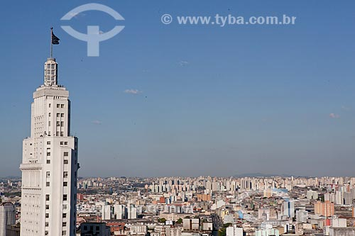 Assunto: Vista aérea do Centro de São Paulo com destaque para o prédio do Banespa à esquerda  / Local:  São Paulo  / Data: 08/10/2010