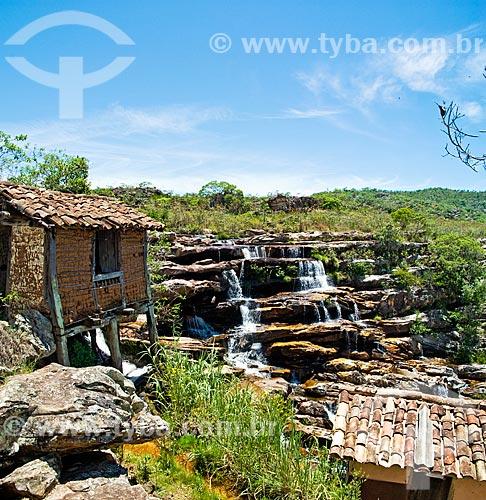 Assunto: Cachoeira do Moinho em Milho Verde no trajeto da antiga Estrada Real  / Local:  Estrada entre Serro e Diamantina - Minas Gerais - MG  / Data: 12/ 2009