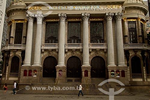 Assunto: Fachada do Teatro Municipal do Rio de Janeiro  / Local:  Cinelândia - Rio de Janeiro - RJ - Brasil  / Data: 12/2010