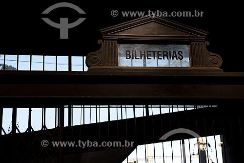 Assunto: Interior da estação Leopoldina  / Local:  Rio de Janeiro - RJ - Brasil  / Data: 11/2010