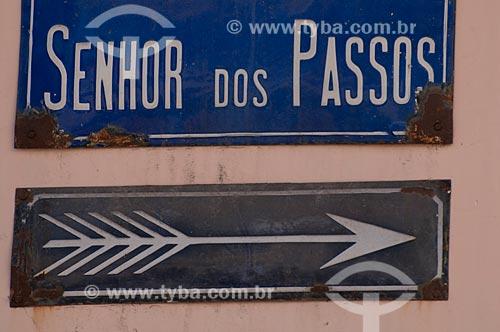 Assunto: Placa da Rua Senhor dos Passos no Centro da cidade  / Local:  Rio de Janeiro - RJ  / Data: 11/2010