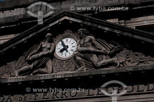 Assunto: Detalhe da fachada da estação Leopoldina  / Local:  Rio de Janeiro - RJ - Brasil  / Data: 11/2010
