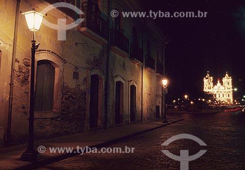 Assunto: Igreja matriz iluminada / Local: Santo Amaro da Purificação - BA - Brazil / Data: 2003