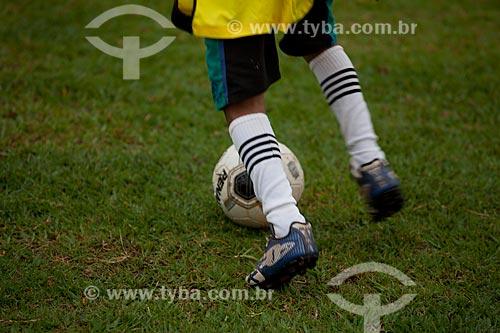 Assunto: Escolinha de futebol na Estação do Conhecimento de Tucumã  / Local:  Pará - PA - Brasil  / Data: 11/2010
