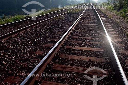 Assunto: Trilho da estrada de ferro Carajás - companhia Vale - na Área de Proteção Ambiental (APA) do Igarapé do Gelado  / Local:  próximo à cidade de Parauapebas - Pará  - Brasil  / Data: 30/10/2010