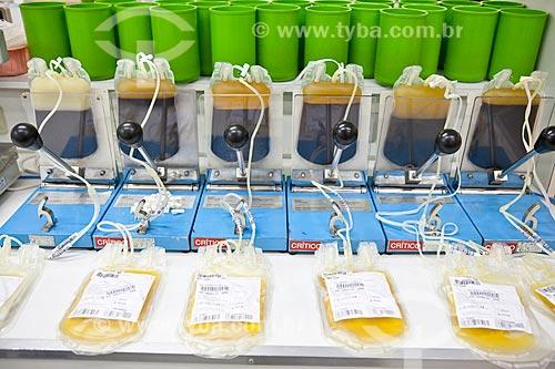 Setor de preparação de hemocomponentes (concentrado de hemácias, plasma fresco congelado, concentrado de plaquetas e crioprecipitado) - HemoRio, terapia do sangue  - Rio de Janeiro - Rio de Janeiro - Brasil