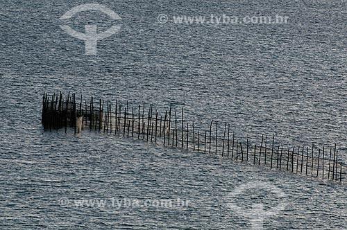 Assunto: Curral, como é conhecida a técnica para pesca de peixes na Praia de Ponta Verde  / Local:   Maceió - Alagoas / Data: 2011