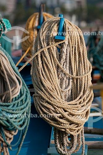 Assunto: Cordas em jangada na Praia de Pajuçara  / Local:  Maceió - Alagoas  / Data: 2011