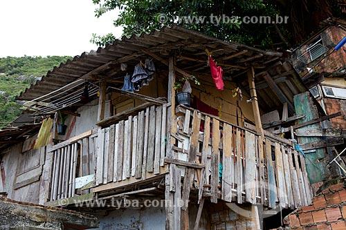Assunto: Barraco na favela Santa Marta  / Local:  Rio de Janeiro - RJ - Brasil  / Data: 2011
