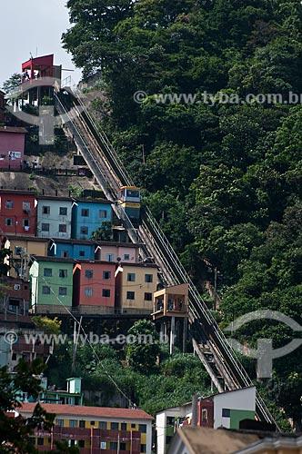 Assunto: Plano Inclinado do Morro Santa Marta  / Local:  Botafogo - Rio de Janeiro - RJ - Brasil  / Data: 2011