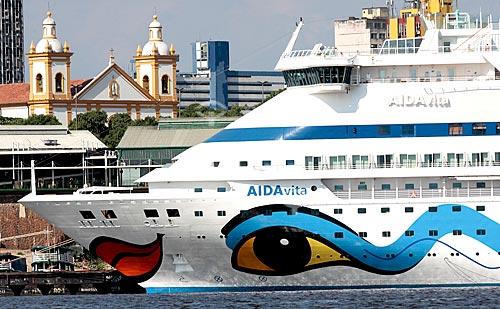 Assunto: Navio Italiano de Turismo (AIDA) no porto flutuante do Roadway  / Local:  Manaus - Amazonas - AM  / Data: 2010