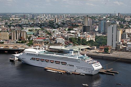 Assunto: Navio de Turismo no porto flutuante do Roadway  / Local:  Manaus - Amazonas - AM  / Data: 2010