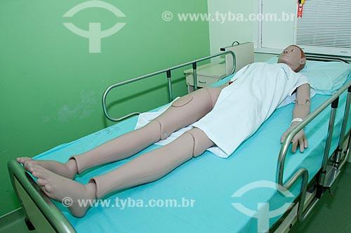 Assunto: Hospital Federal do Andaraí, centro de aperfeiçoamento medico com boneco para estudo de práticas hospitalares.    / Local:  Andaraí - Rio de Janeiro- Brasil / Data: 10/2010