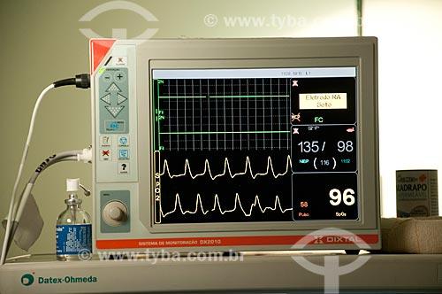Assunto: Hospital Federal de Ipanema - Centro cirúrgico - Monitores digitais e bombas infusoras para medicações controladas / Local: Hospital Federal de Ipanema - Rio de Janeiro - RJ / Data: 10/2010