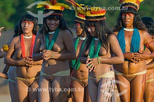 Assunto: Yamaricumã - Adeia Kalapalo - Parque Indígena do Xingu  / Local:  Querência - Mato Grosso - MT  / Data: 07/2009
