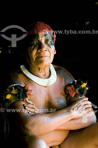 Assunto: Cacique Tafukumã da Adeia Kalapalo - Parque Indígena do Xingu  / Local:  Querência - Mato Grosso - MT  / Data: 07/2009