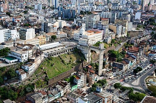 Assunto: Vista aérea de Salvador, com o Elevador Lacerda a Prefeitura o Palácio Rio Branco e a Câmara dos Vereadores  / Local:  Bahia - BA  / Data: 01/2011