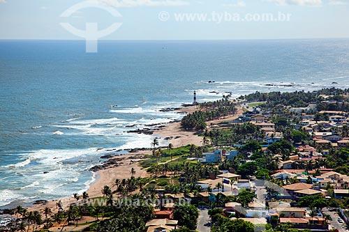 Assunto: Vista aérea de Salvador, com o Farol de Itapoã ao fundo  / Local:  Salvador - Bahia - BA  / Data: 01/2011