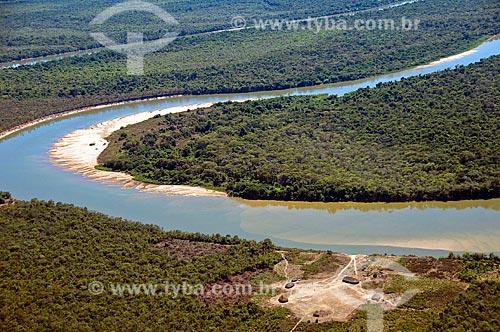 Assunto: Vista aérea do Rio Kuluene - Parque Indígena do Xingu  / Local:  Querência - Mato Grosso - MT  / Data: 07/2009