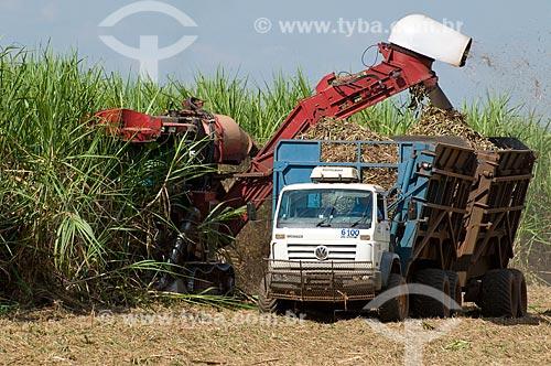 Assunto: Colheita mecanizada de cana-de-açúcar  / Local:  Promissão - São Paulo - SP  / Data: 04/2010