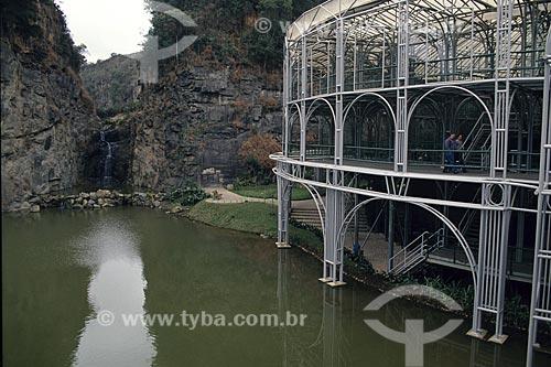 Assunto: Ópera de Arame, localizado na Pedreira Paulo Leminski - Maior casa de shows de Curitiba - Feita de canos, a estrutura se integra perfeitamente à natureza ao redor  / Local:  Curitiba - Paraná - PR - Brasil  / Data: 2007
