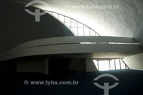 Assunto: Interior da sede da Fundação Oscar Niemeyer no Caminho Niemeyer - Projeto de Oscar Niemeyer  / Local:  Niterói - Rio de Janeiro - RJ  / Data: 02/2007