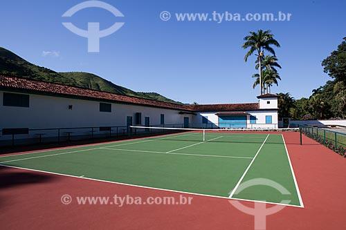 Assunto: Quadra de tênis na Fazenda Guaritá  / Local:  Sebastião de Lacerda, distrito de Vassouras - Vale do Paraíba - Rio de Janeiro - RJ  / Data: 02/2011
