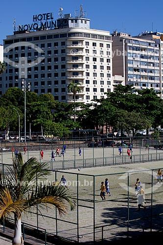 Quadras de futebol society do Aterro do Flamengo fechado no domingo  - Rio de Janeiro - Rio de Janeiro - Brasil