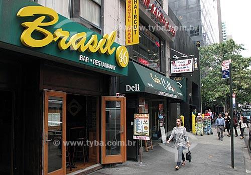 Assunto: Presença brasileira em Nova Iorque  / Local: Nova Iorque - Estados Unidos da América - EUA  / Data: 07/2009