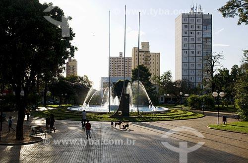 Assunto: Praça 21 de Abril - centro da cidade   / Local: Sertãozinho - São Paulo - SP - Brasil  / Data: 08/2009