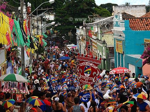 Assunto: Bloco de Maracatu Batuques de Pernambuco - centro histórico  / Local: Olinda - Pernambuco - PE - Brasil / Data: 03/2011