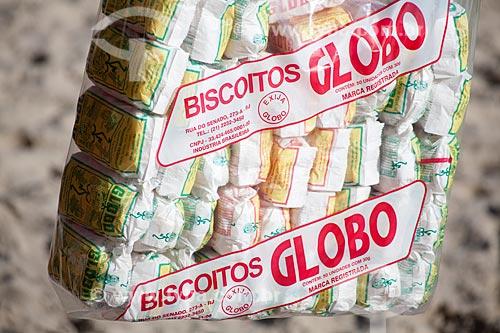 Assunto: Imagem focada em saco de biscoito de polvilho Globo / Local: Rio de Janeiro - RJ - Brasil  / Data: Fevereiro 2011