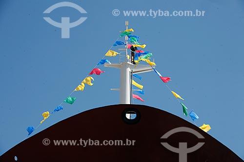 Assunto: Bandeiras enfeitam mastro do navio Abreu Lima / Local: Rio de Janeiro - RJ - Brasil  / Data: 11/2009