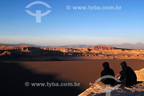 Assunto: Pôr do sol no Valle de la Luna / Local: Deserto de Atacama - Chile - América do Sul / Data: 01/2011