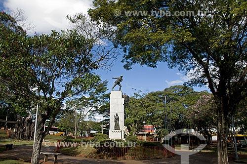 Assunto: Vista de obelisco da praça dos Voluntários  / Local: São Carlos - São Paulo (SP) - Brasil / Data: 07/2009