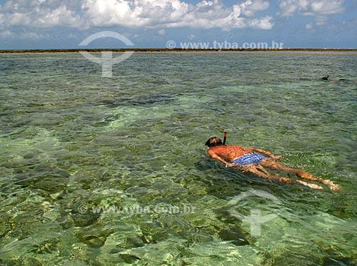 Assunto: Piscina natural com recife de corais conhecida como Galés - Região Costa dos Corais / Local: Maragogi - Alagoas - AL - Brasil / Data: 03/2011