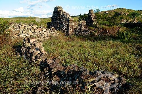 Assunto: Ruínas de casas de pedra na Chapada Diamantina / Local: Igatu - Bahia (BA) - Brasil / Data: 02/2011